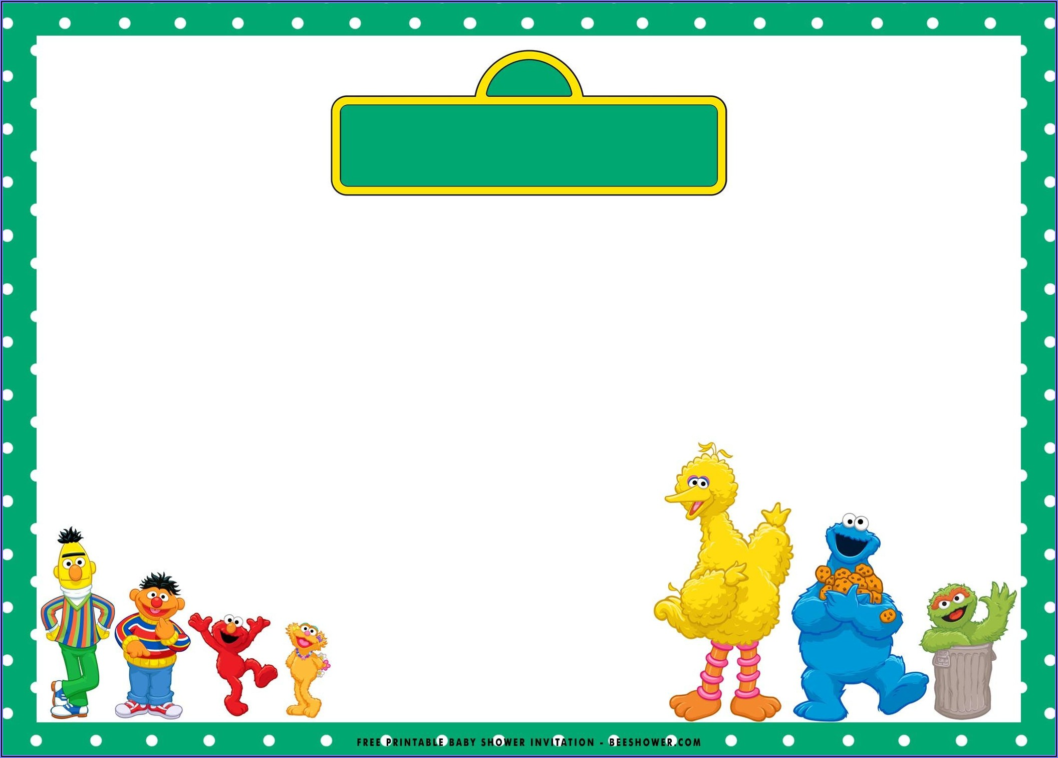 Sesame Street Birthday Invitations Free
