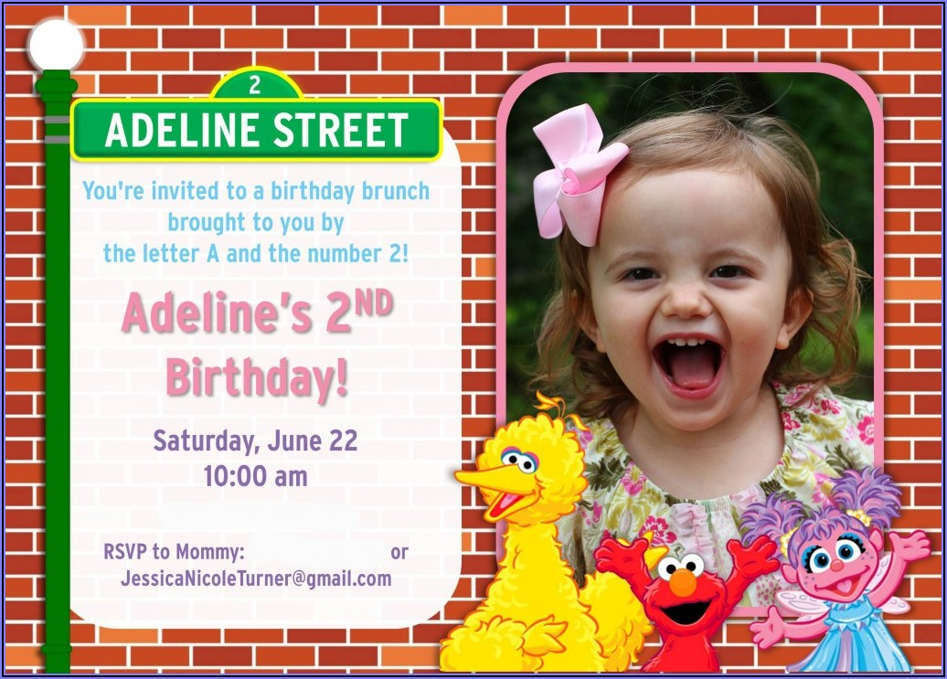 Sesame Street First Birthday Invitation Wording