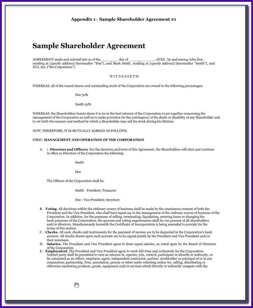 Shareholder Agreement Template Uk