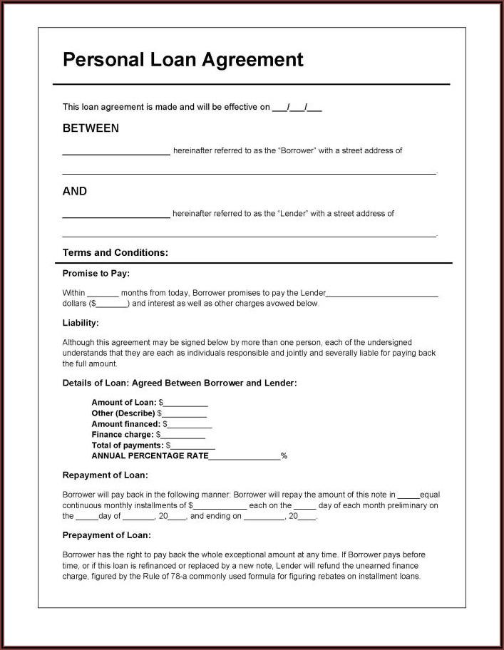 Short Form Loan Agreement Template
