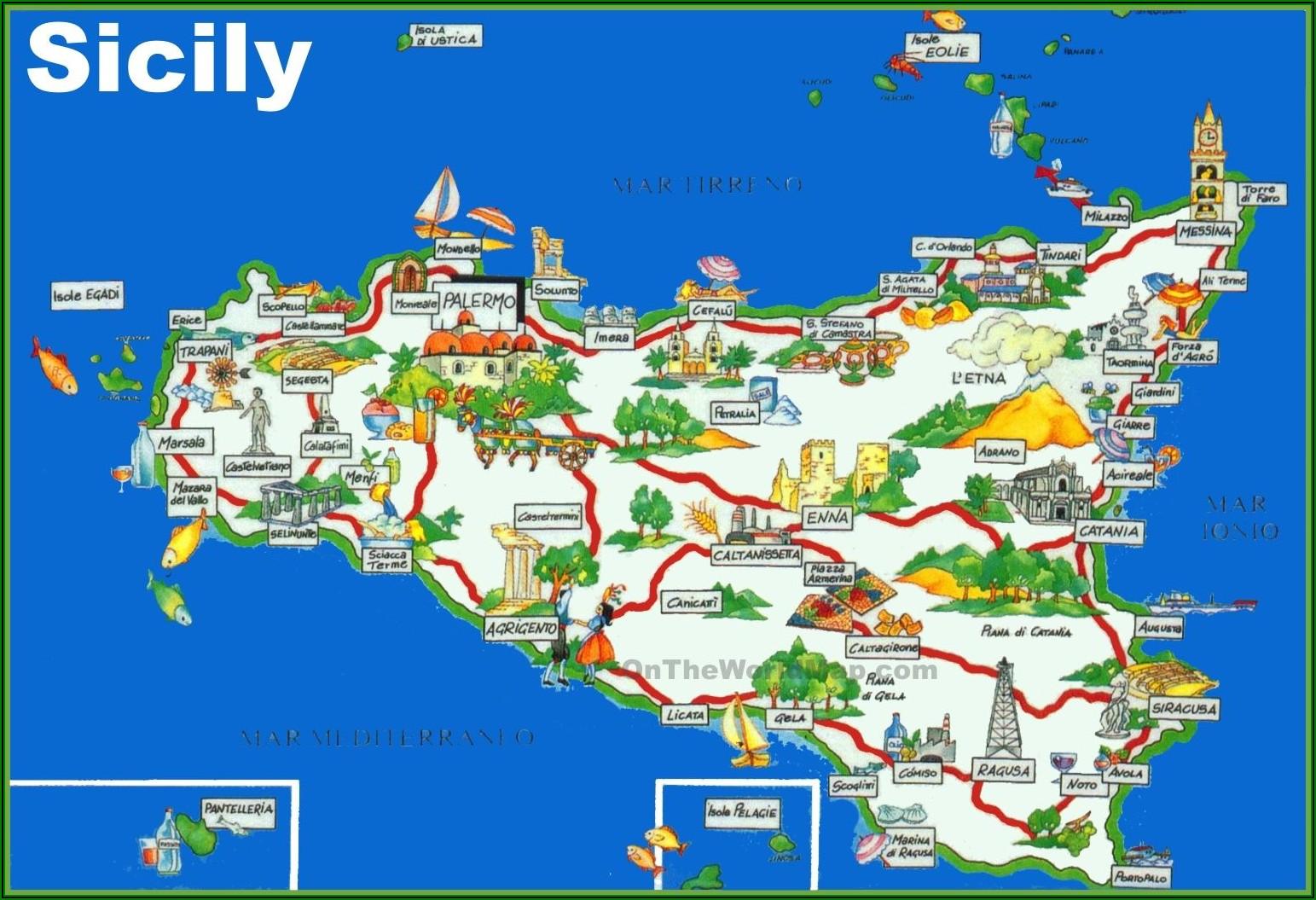 Sicily Tourist Map