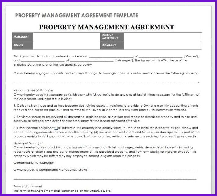 Simple Lease Agreement Template South Africa