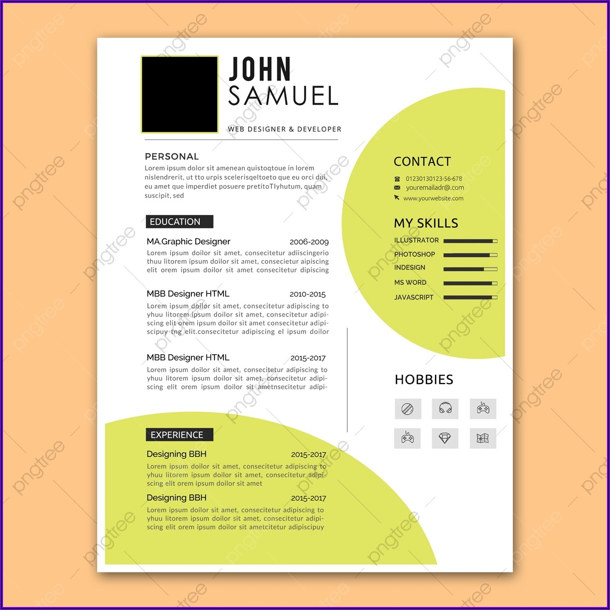 Simple Resume Layout Download