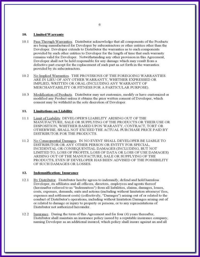 Software Distribution Agreement Template Free