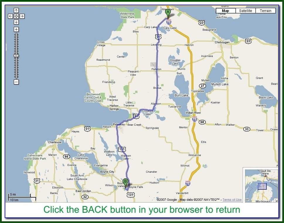Southeast Michigan Golf Courses Map