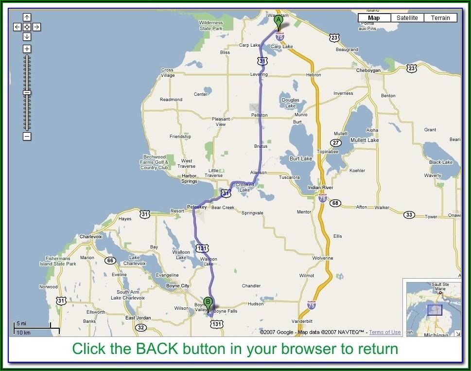 Southeast Michigan Golf Courses Map