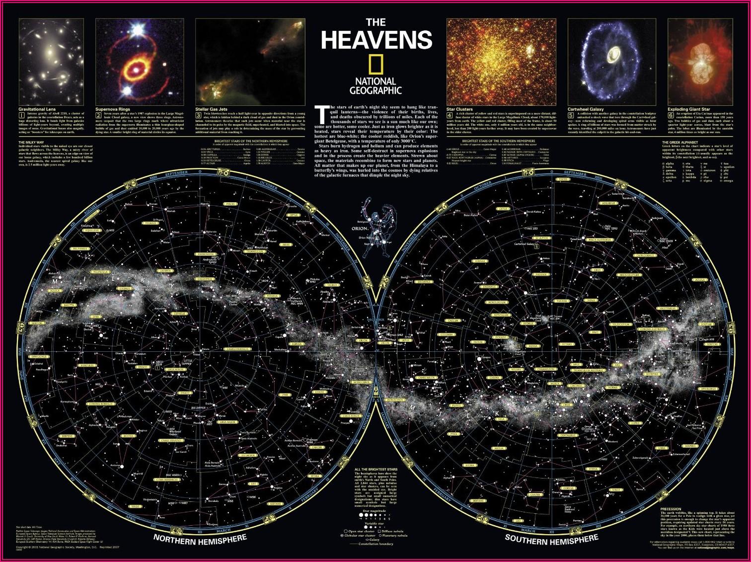 Southern Hemisphere Star Map Pdf