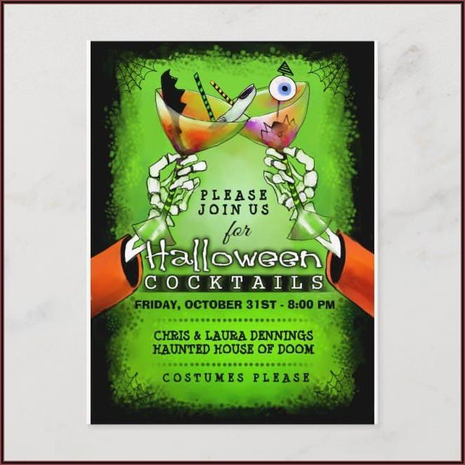 Spooky Halloween Invitation Wording