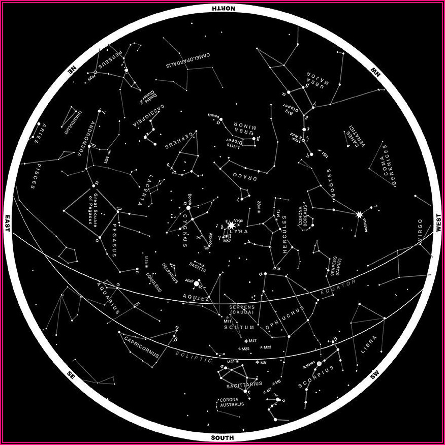 Star Map Southern Hemisphere Printable