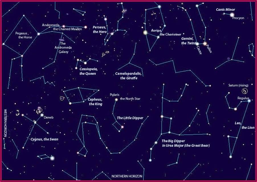 Star Map Southern Hemisphere Tonight