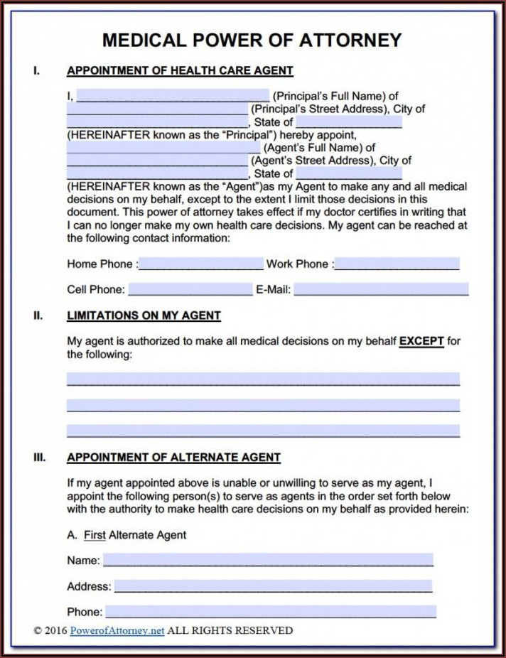 State Of Wv Medical Power Of Attorney Form