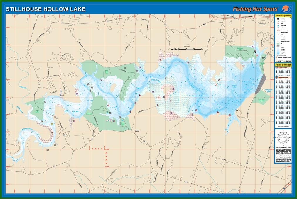 Stillhouse Hollow Lake Map