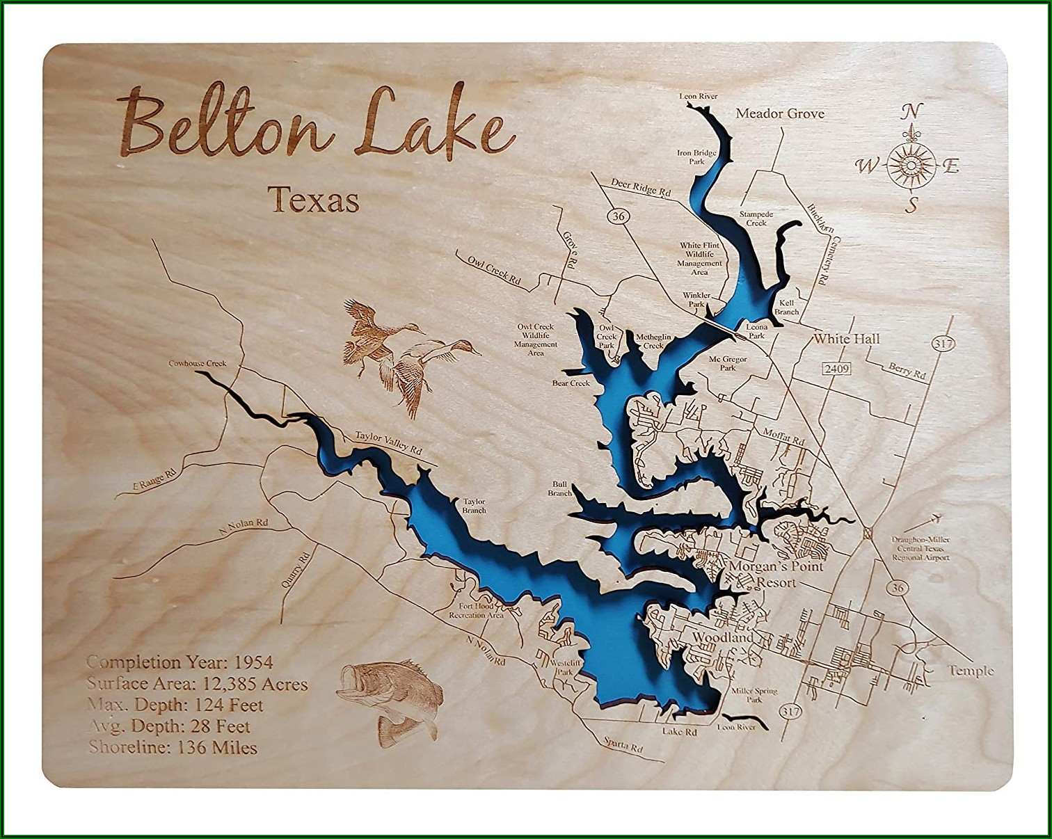 Stillhouse Hollow Lake Topographic Map