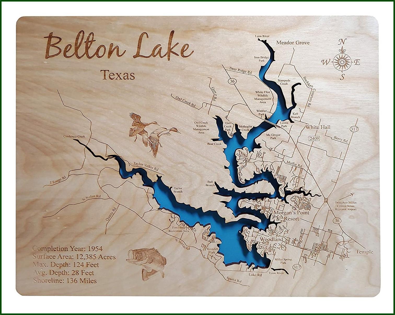 Stillhouse Hollow Lake Topographic Map