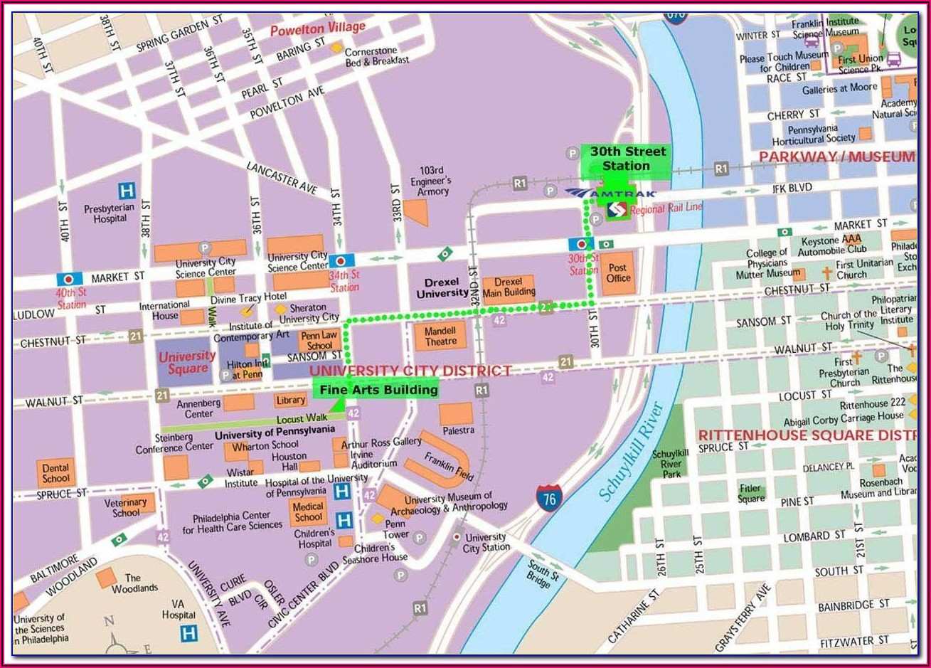 Street Map Of Downtown Philadelphia Pa