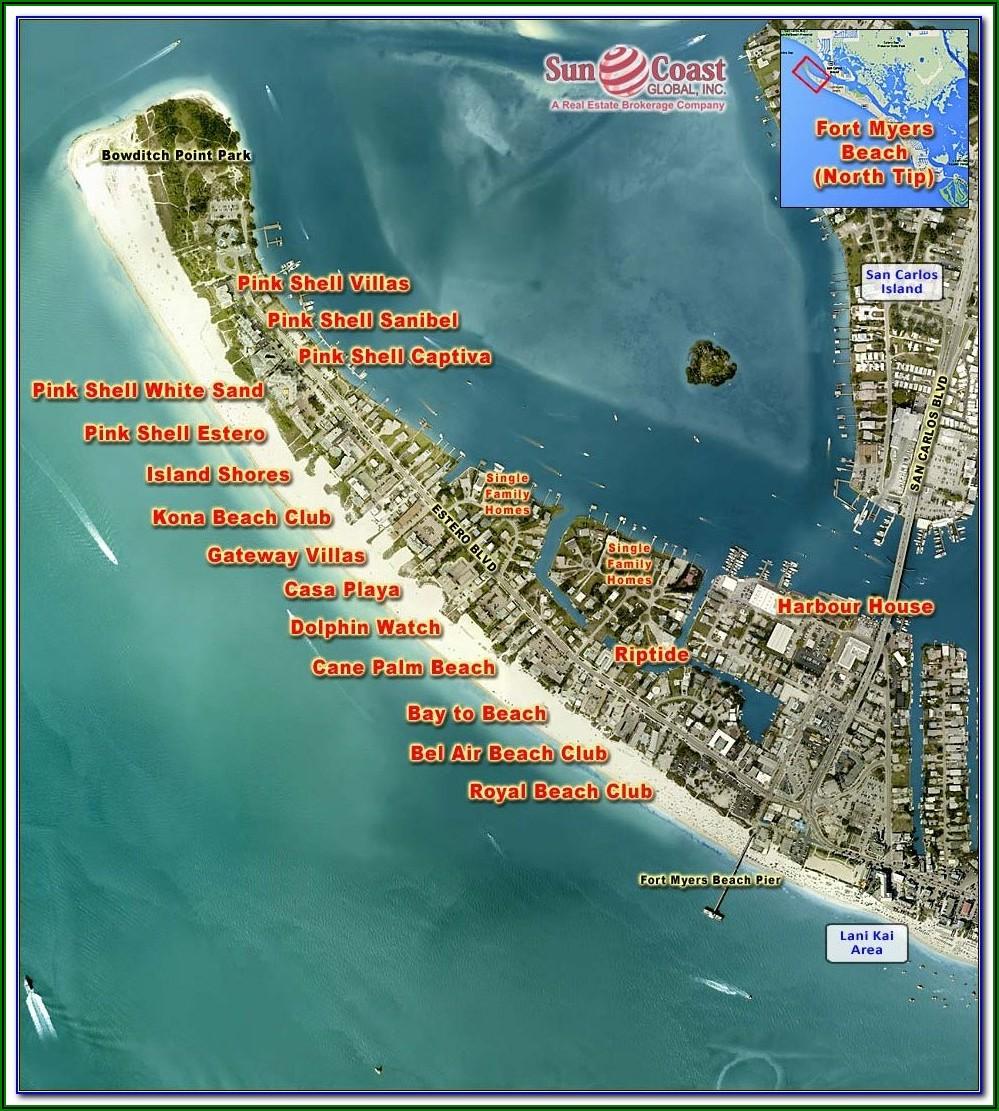 Street Map Of North Fort Myers Florida