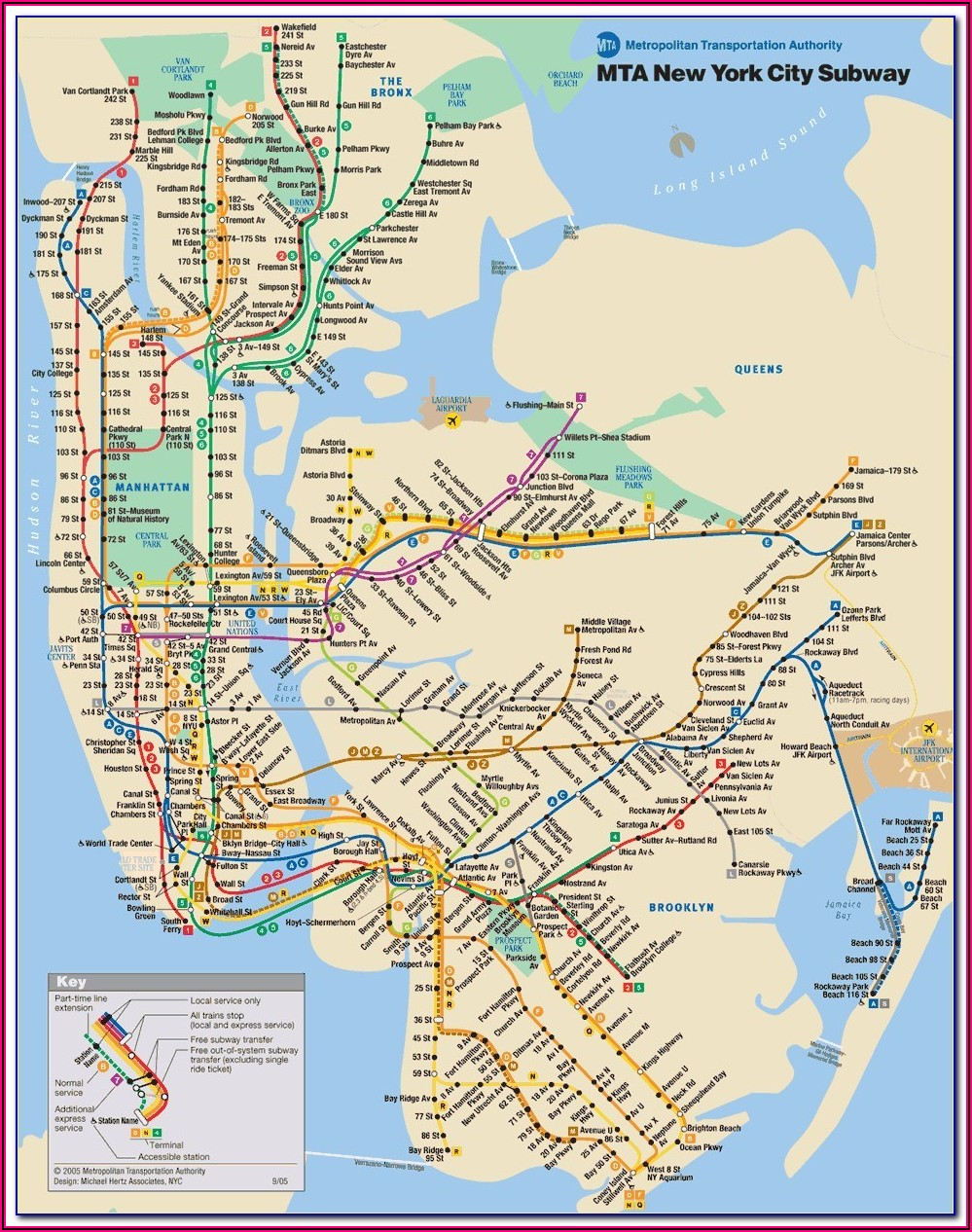 Subway Map New York Pdf