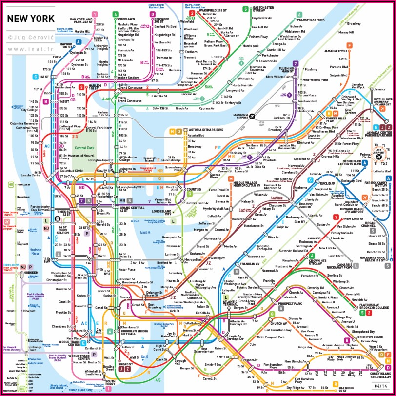 Subway Map Of New York