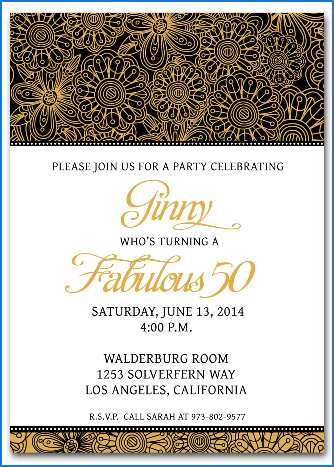 Surprise 50th Birthday Invitation Wording