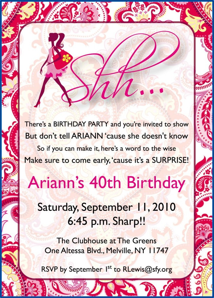 Surprise 60th Birthday Invitation Sayings