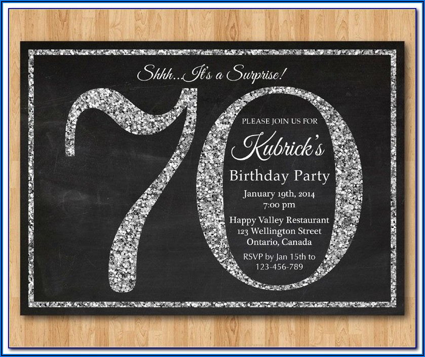 Surprise 70th Birthday Invitations Templates Free