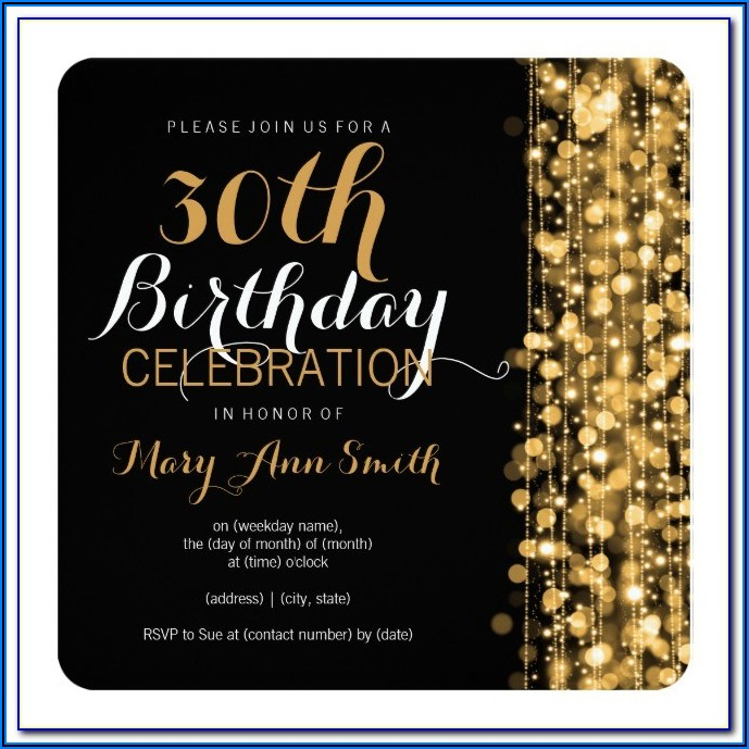 Surprise Birthday Invitation Template Free