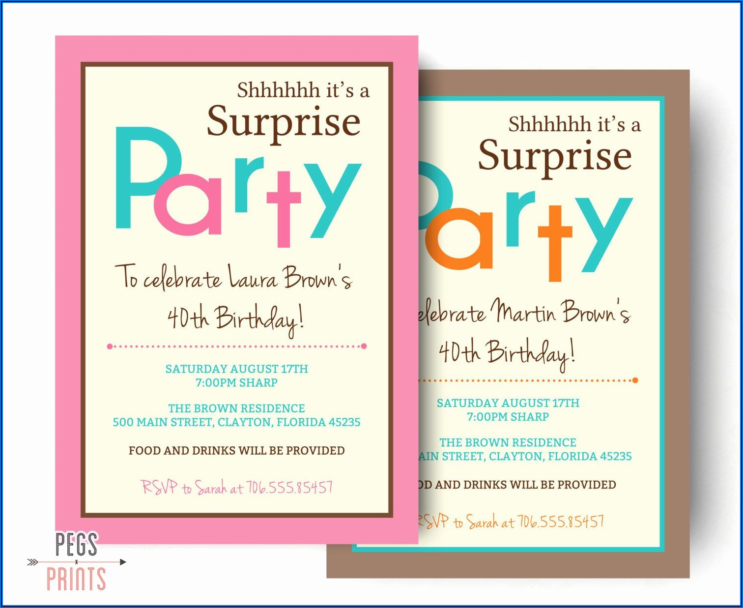 Surprise Birthday Party Invite Wording