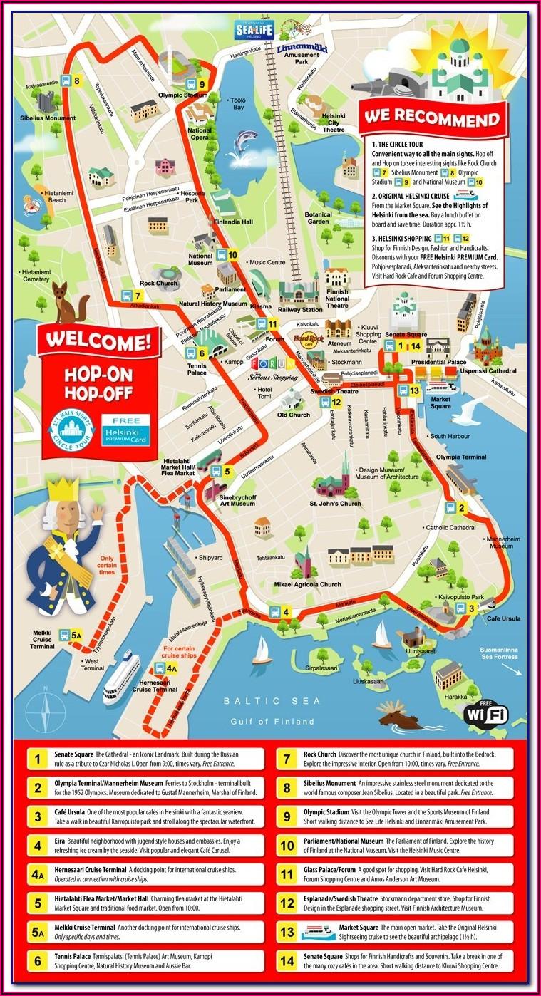 Sydney Hop On Hop Off Bus Route Map