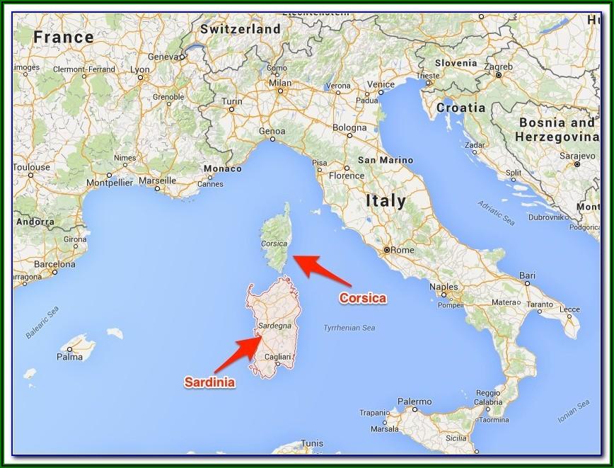 Taormina Sicily Tourist Map