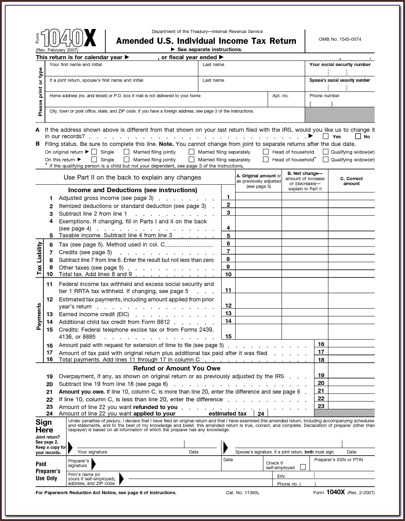 Tax Forms Printable