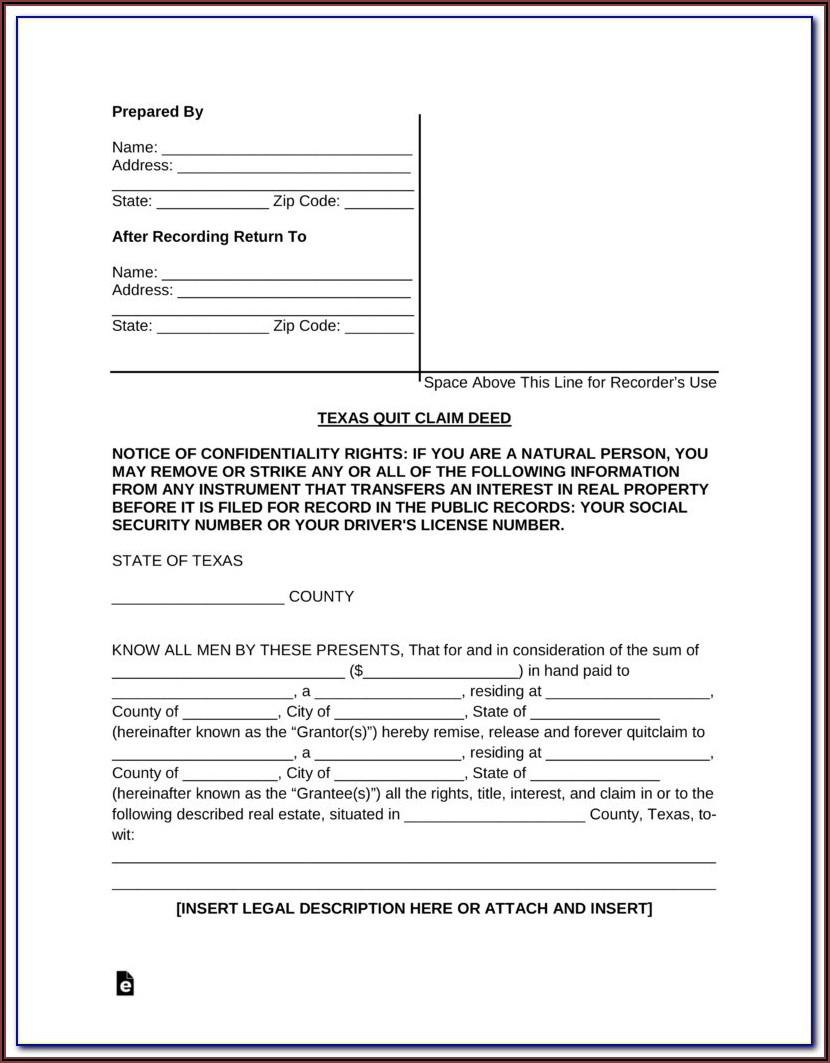 Texas Contract For Deed Form