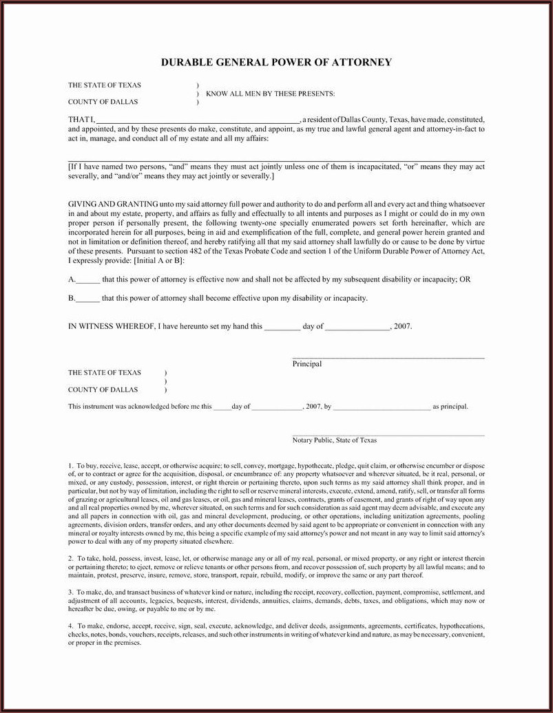 Texas Deed Of Trust Form Free