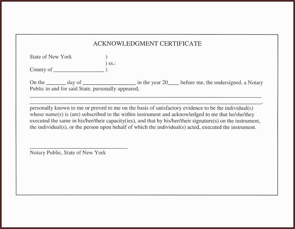 Texas Notary Acknowledgment Requirements