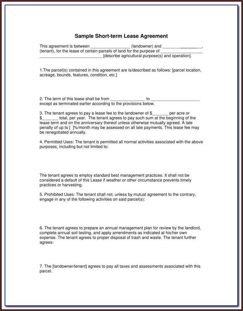 Texas Rental Agreement Form Pdf