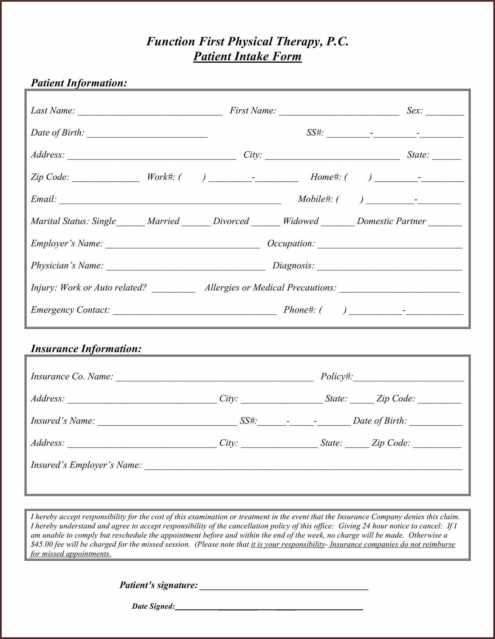 Therapy Intake Template
