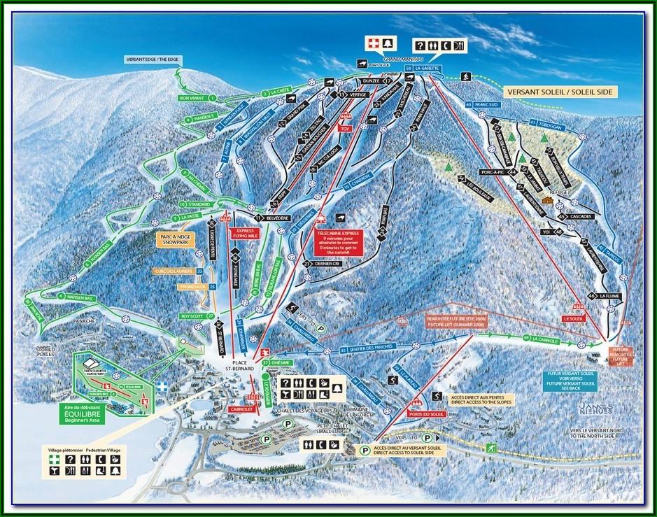 Tour Mont Blanc Mapa