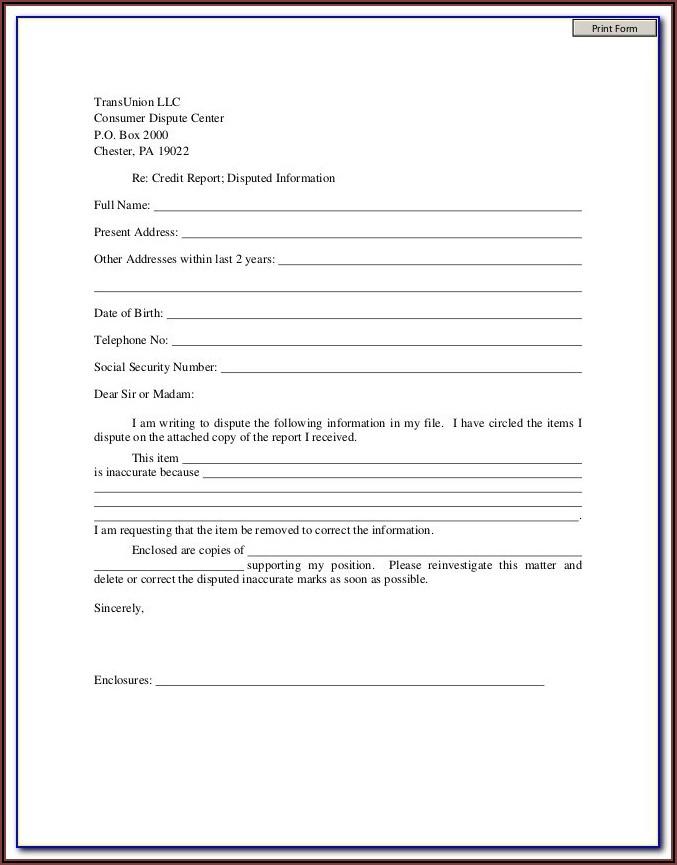 Transunion Free Credit Report Request Form