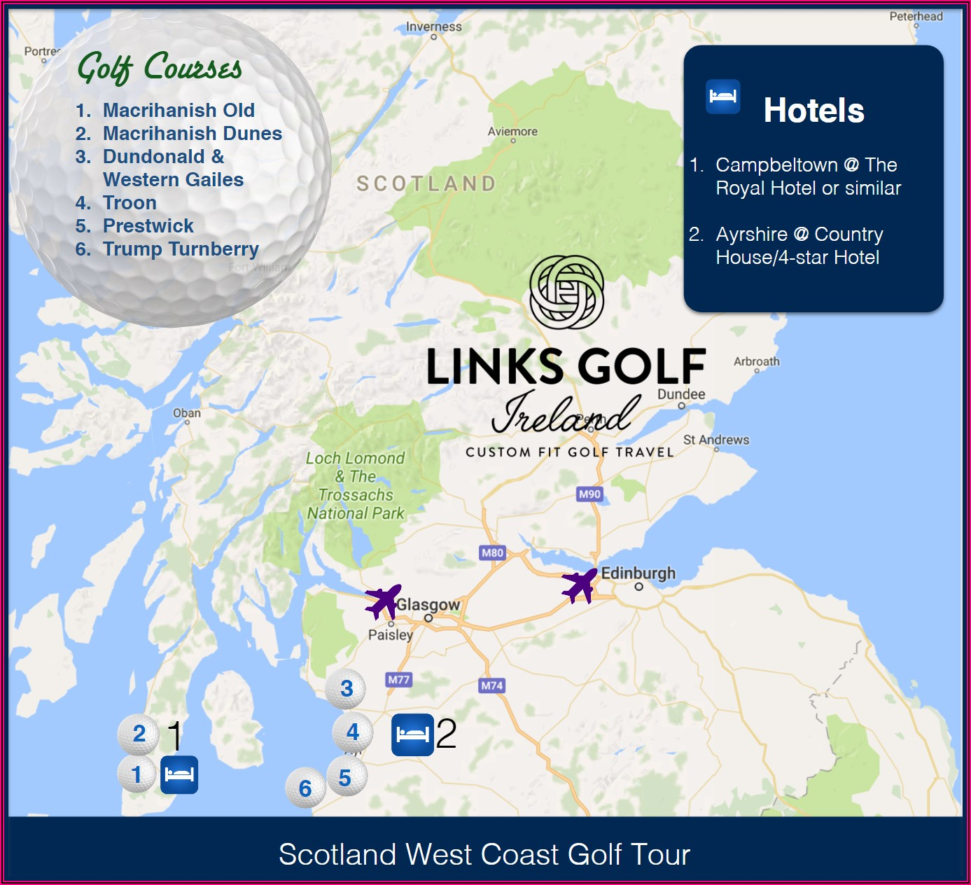Troon Golf Course Scotland Map