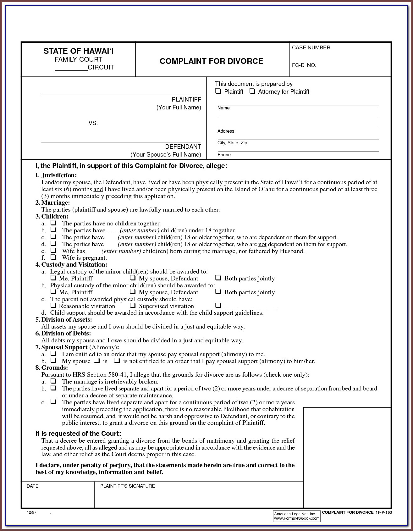 Uncontested Divorce Forms In Georgia