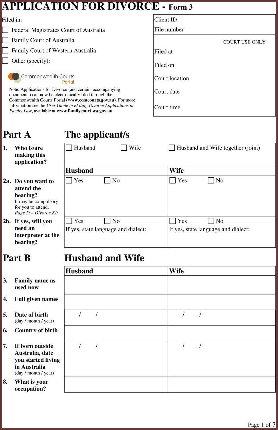 Uncontested Divorce Forms South Africa