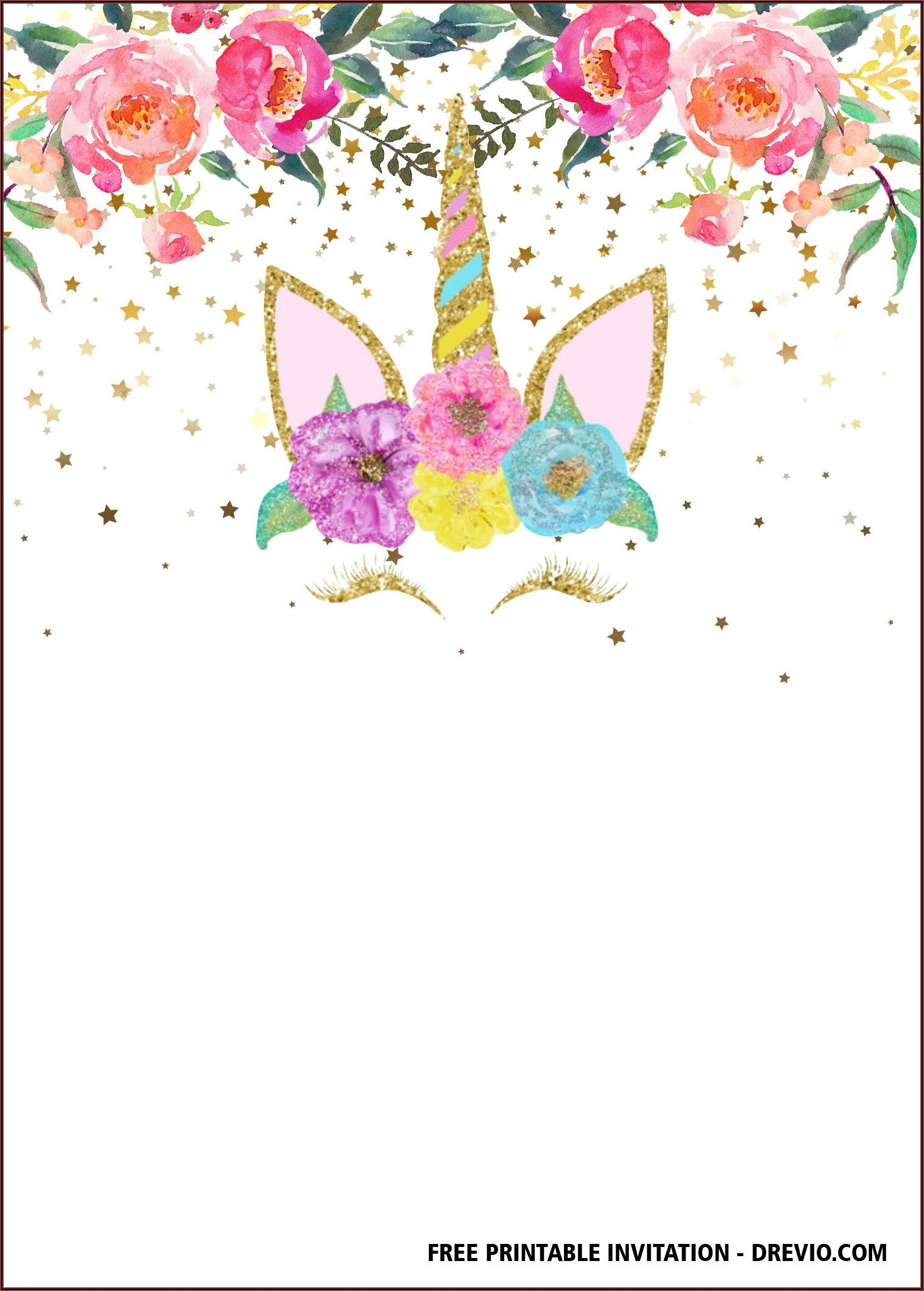 Unicorn Free Invitation Templates