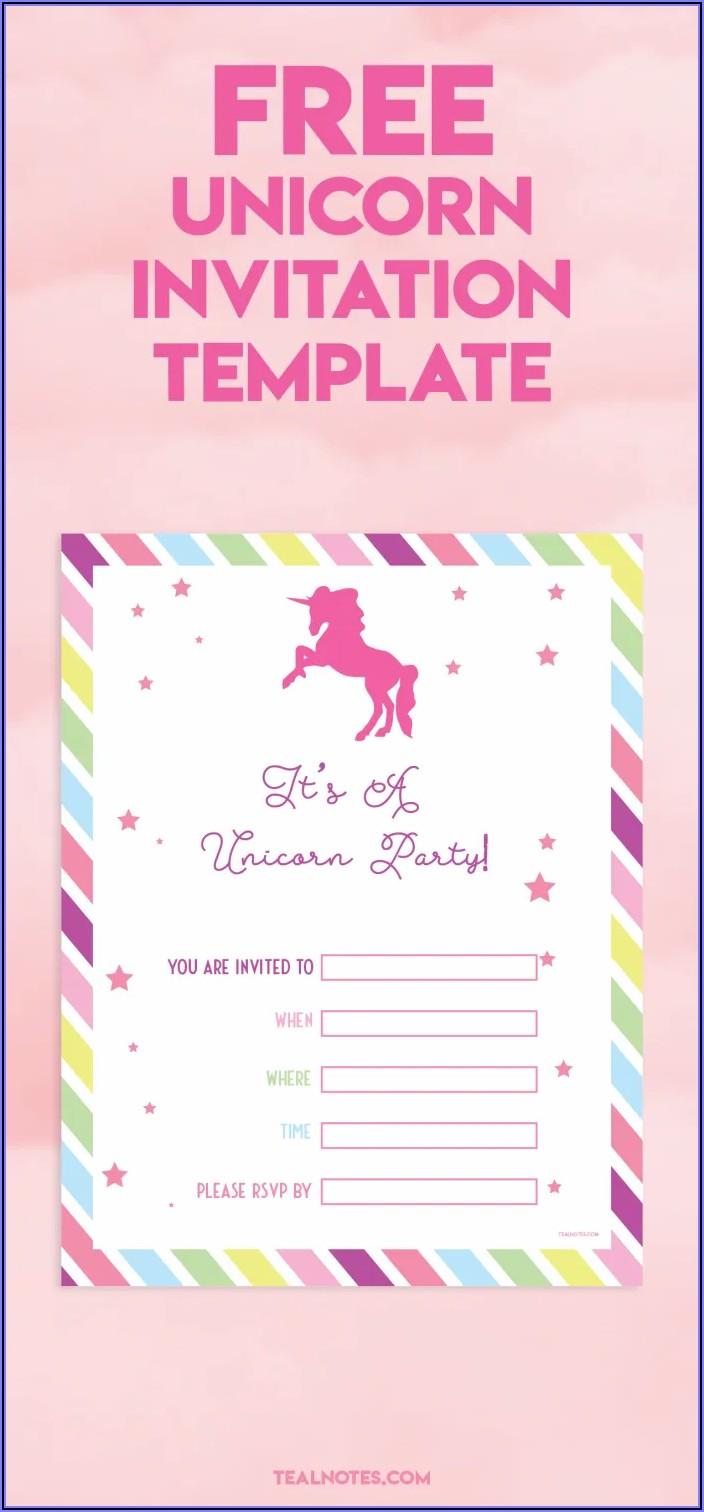 Unicorn Invitation Templates Free Download