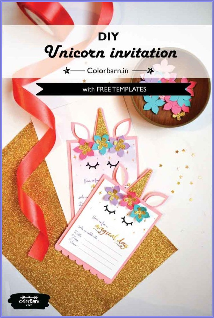 Unicorn Invite Template Free