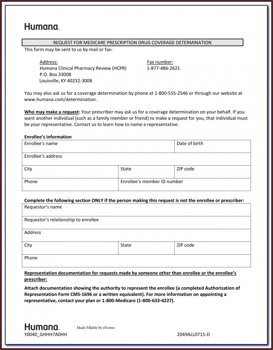 Unitedhealthcare Medicare Prior Auth Form For Medication