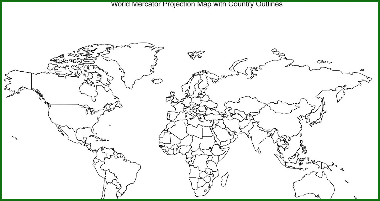 Unlabelled World Map