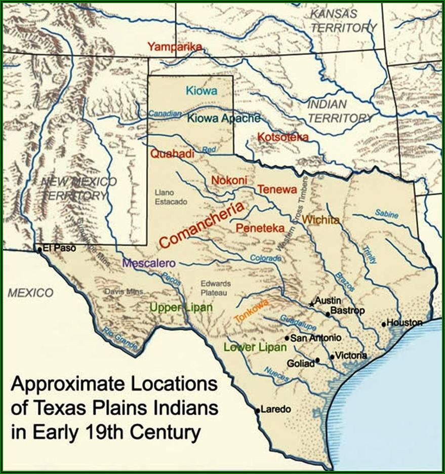 Us Map Native American Indian Tribes