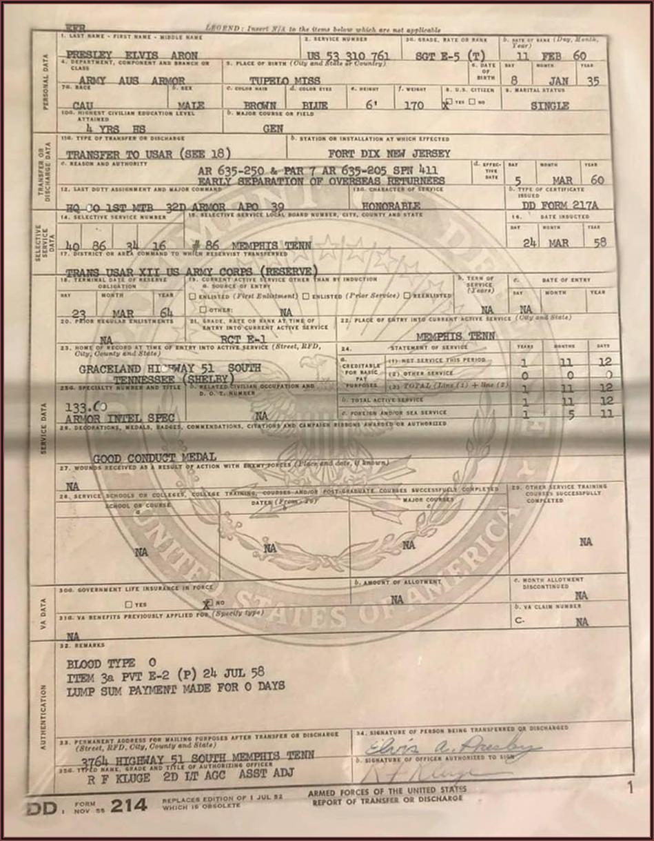 Va.gov Dd Form 214