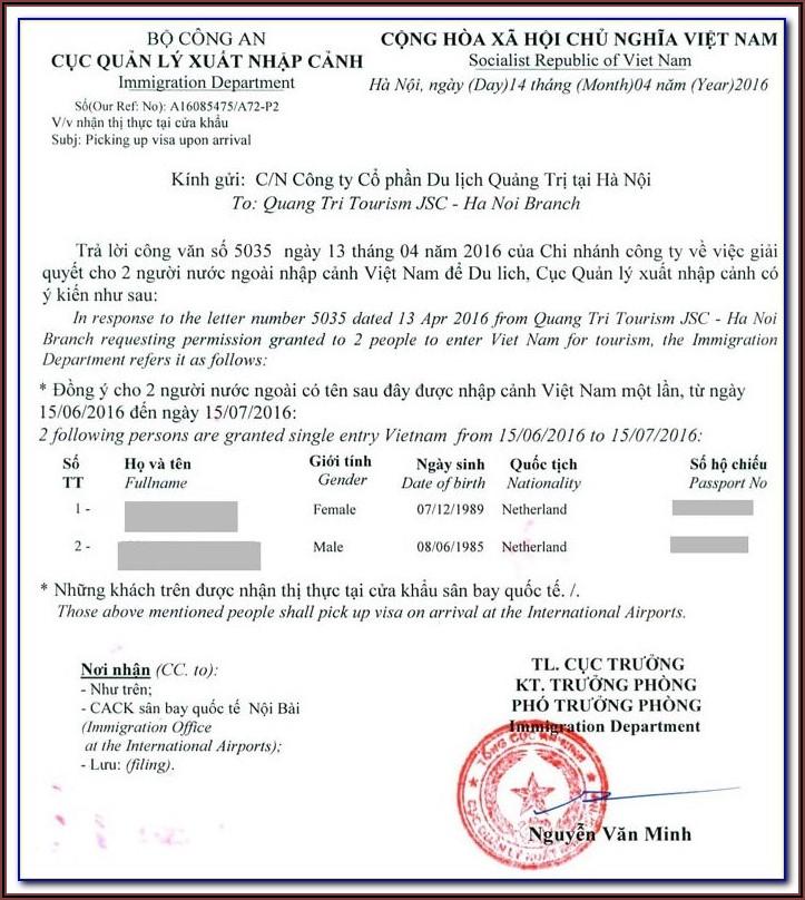Vietnam Visa Application Form Na1 Pdf