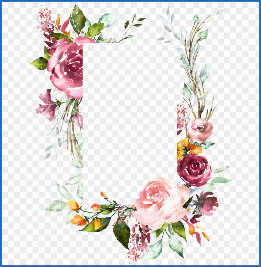 Vintage Floral Wedding Invitation Background