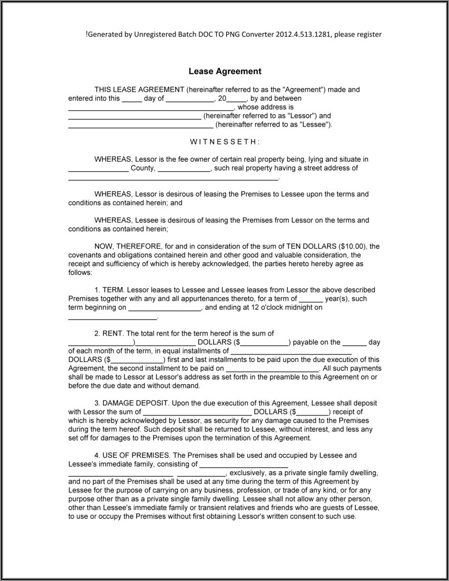 Virginia Lease Purchase Agreement Form